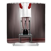 Woman On Chair Shower Curtain
