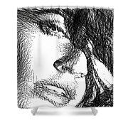 Woman Sketch Shower Curtain
