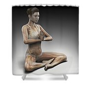 Yoga Meditation Pose Shower Curtain