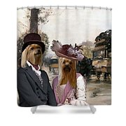 Yorkshire Terrier Art Canvas Print Shower Curtain
