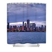 Chicago Skyline At Dusk Shower Curtain