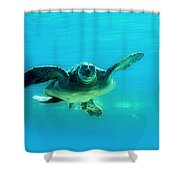 Green Submarine Shower Curtain