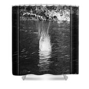 50 Shades Of Grey Abstract Black And White Painting Shower Curtain