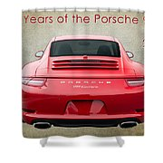 50 Years Of The Porsche 911 E182 Shower Curtain