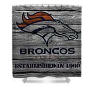 Denver Broncos Shower Curtain by Joe Hamilton
