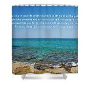 53- Be Happy Shower Curtain