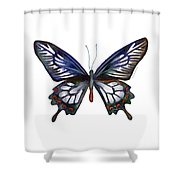 54 Ceylon Rose Butterfly Shower Curtain