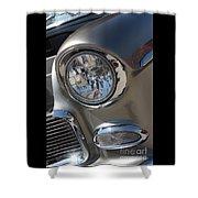 55 Bel Air Headlight-8200 Shower Curtain