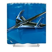55 Chevrolet Hood Ornament Shower Curtain