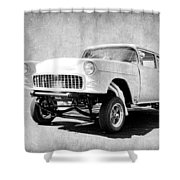 55 Gasser Art Shower Curtain