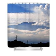 View Of Mt. Etna From Taormina Sicily Shower Curtain