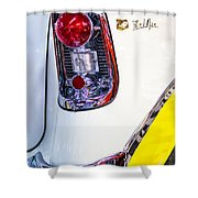 56 Chevy Bel-air Tail Light Shower Curtain