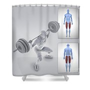 Exercise Workout Shower Curtain