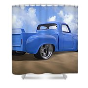 56 Studebaker Truck Shower Curtain