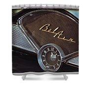 57 Chevy Bel Air Dash Shower Curtain