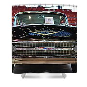 '57 Chevy Bel Air Show Car Shower Curtain