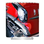 57 Chevy Front End Palm Springs Shower Curtain