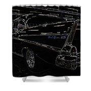 57 Chevy Neon Glow Shower Curtain by Steve McKinzie