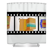 57 Contact Strip Shower Curtain