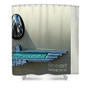 57 Ford Thunderbird  Shower Curtain