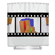 57 Waves Shower Curtain