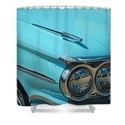 59 Pontiac Catalina Hood Ornament Shower Curtain