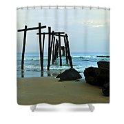 59th Street Pier Ocean City   Shower Curtain
