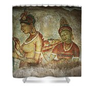 5th Century Cave Frescoes Shower Curtain