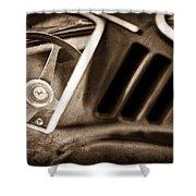 1966 Ferrari 275 Gtb Steering Wheel Emblem Shower Curtain