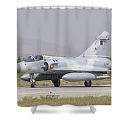 A Qatar Emiri Air Force Mirage 2000 Shower Curtain
