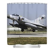 A Qatar Emiri Air Force Mirage Shower Curtain