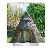 A Typical Ukrainian Antique Hut Shower Curtain
