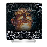 Abstract 102 Shower Curtain
