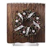Advent Christmas Wreath Decoration Shower Curtain