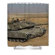 An Israel Defense Force Magach 7 Main Shower Curtain