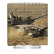 An Israel Defense Force Merkava Mark II Shower Curtain