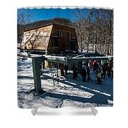 At The Ski Resort Shower Curtain