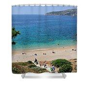 Beach In Legrena Shower Curtain