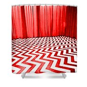 Black Lodge Shower Curtain