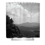 Blue Ridge Mountains - Virginia Bw 3 Shower Curtain