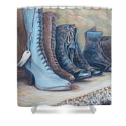 6 Boots Shower Curtain