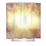 Bright Background Shower Curtain