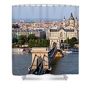 Budapest Cityscape Shower Curtain