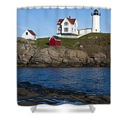 Cape Neddick Lighthouse Shower Curtain