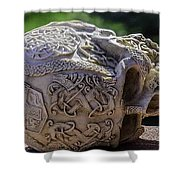 Celtic Skulls Symbolic Pathway To The Other World Shower Curtain