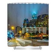 Charlotte City Skyline  Shower Curtain