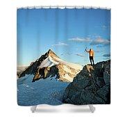 Climbing Cypress Peak Shower Curtain