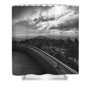 Clingmans Dome - Great Smoky Mountains National Park Shower Curtain