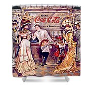 Coca - Cola Vintage Poster Shower Curtain