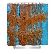 Cyprus Idol Of Pomos Shower Curtain by Augusta Stylianou